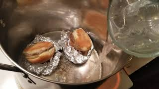 Reheating WHITE CASTLE sliders WITHOUT A MICROWAVE!! (public service announcement)