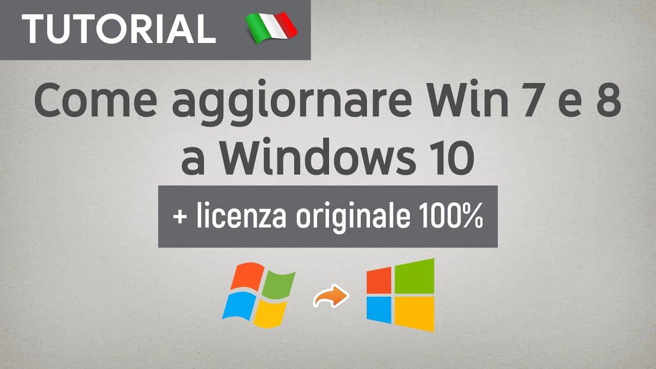 Come aggiornare Windows 7 o 8 a Windows 10 Professional (+ Licenza) ★ Upgrade Ufficiale