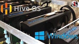 Сравнение майнинга на Windows с Hive OS