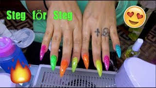 Hur fixar jag mina Glittriga Akryl naglar