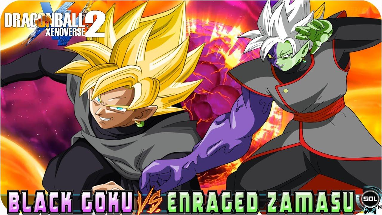 Black Goku SSJ 2 (Manga) And Enraged Merged Zamasu