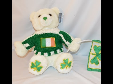 Musical Irish Stuffed Teddy Bear
