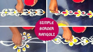 Easy & Simple Border # Friday kolam#Mungitlo Muggulu
