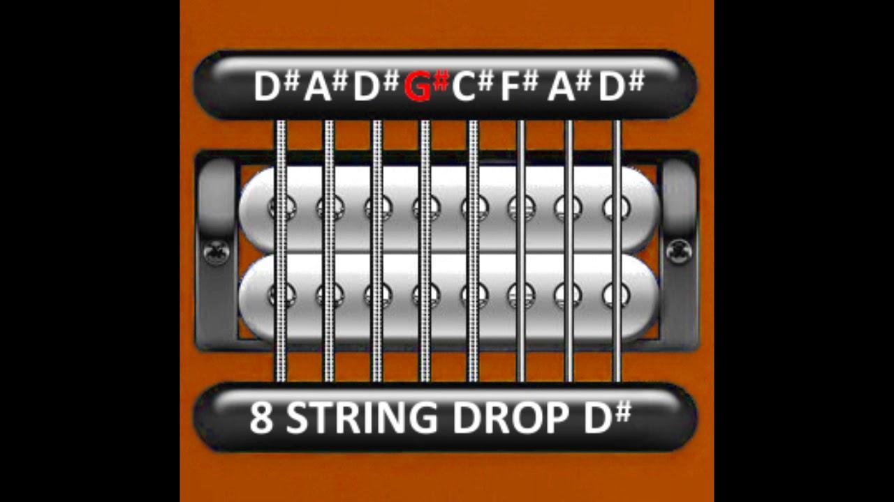 perfect guitar tuner 8 string drop d d a d g c f a d youtube. Black Bedroom Furniture Sets. Home Design Ideas
