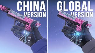 CS:GO - TOP 10 CHINESE VERSION WEAPON SKINS [Comparison]
