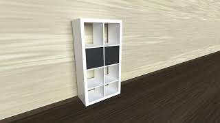 3D Model of White bookcase Review