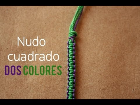 07d21d80a Pulsera  Nudo plano en 2 Colores  FACIL  - YouTube