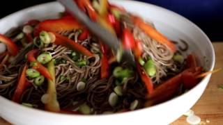 Cold Chicken Soba Noodle Salad