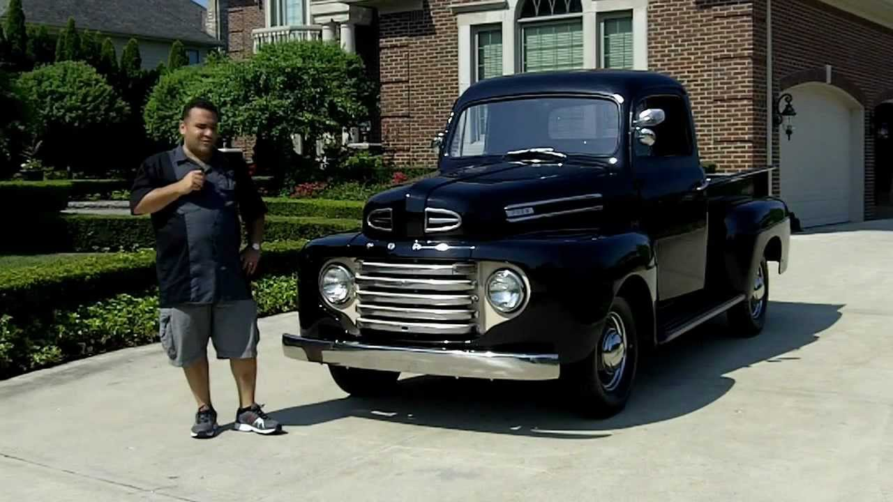 1950 ford f 1 pickup classic muscle car for sale in mi vanguard motor sales youtube. Black Bedroom Furniture Sets. Home Design Ideas