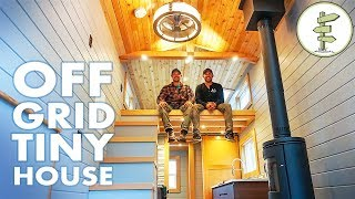 Super Modern Off-Grid Tiny House - Full Tour