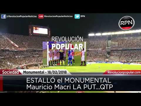Mauricio Macri LPQTP en el MONUMENTAL