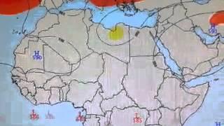 توقعات مسار المنخفض الجوي من24سبتمبر 10اكتوبر2014