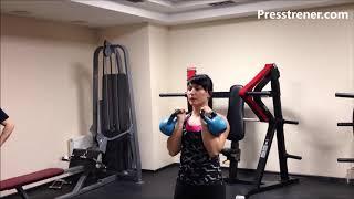 Фитнес упражнения на пресс ноги, руки, плечи, спину, бицепс, трицепс