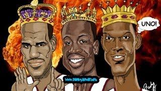 How To Draw: LeBron James, Dwyane Wade, Chris Bosh, Miami Heat Big Three Caricature Drawing.
