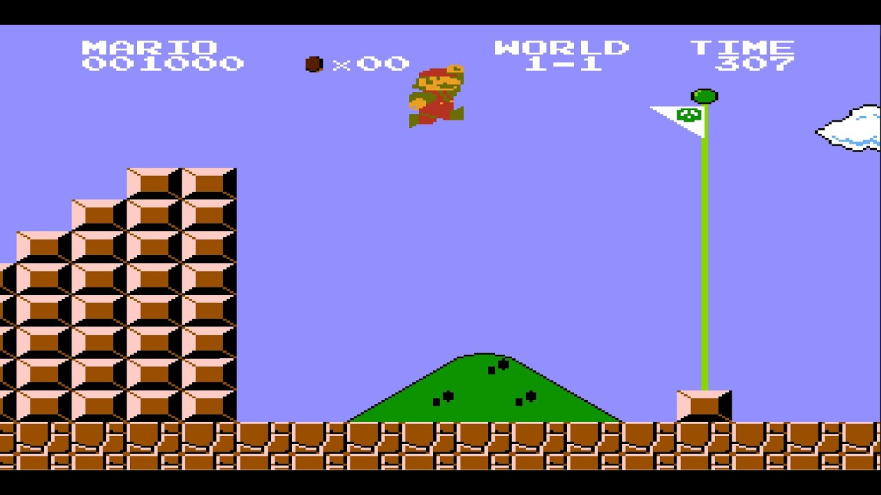 Image result for super mario first flagpole