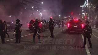 Hundreds Protest Police Shooting Of Jacob Blake In Los Angeles