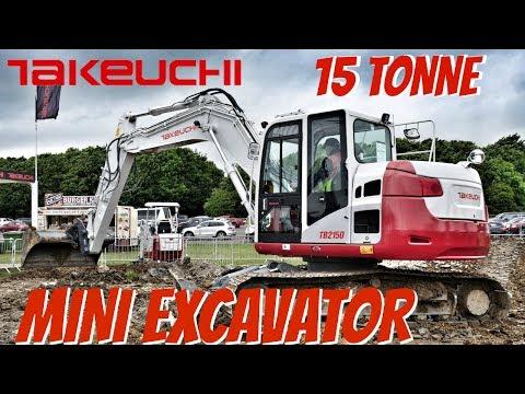 Takeuchi S Massive Mini Excavator At Plantworx 2017 Youtube