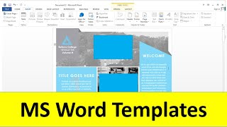 How To Use Templates In Ms Word ?