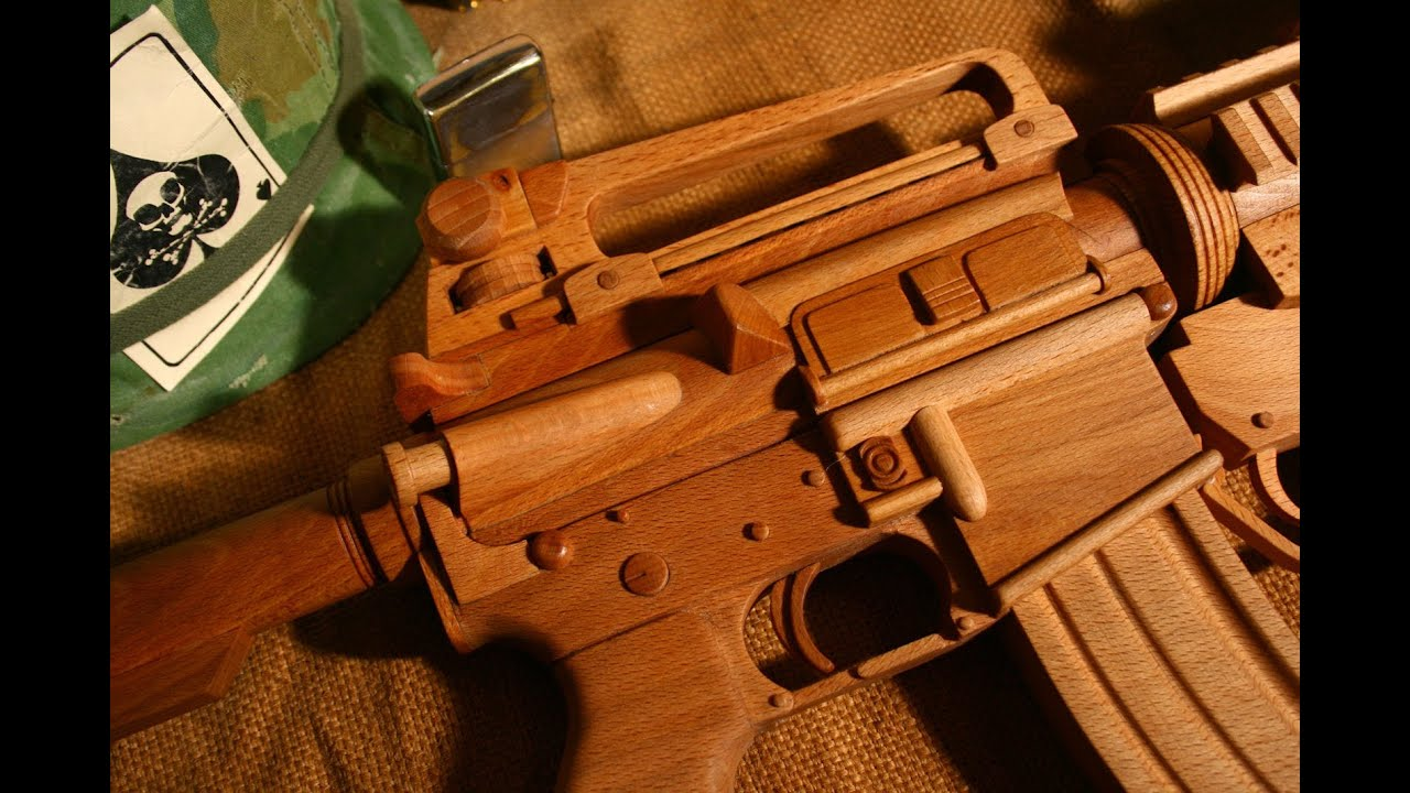 M4a1 Wooden Gun With M203 Grenade Launcher Youtube