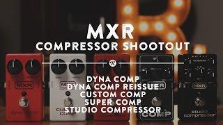 MXR Compressor Shootout: Dyna Comp, M-102, Custom Comp, Super Comp, Studio Comp | Reverb Demo Video