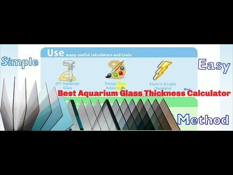 How To Calculate Aquarium Size / Glass Thickness / Volume | Easy Method | Haflong