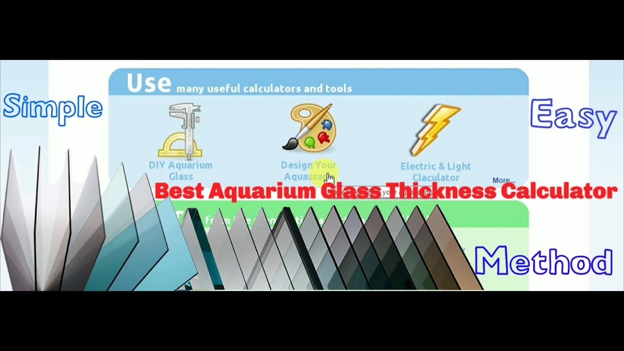 How To Calculate Aquarium Size Glass Thickness Volume Easy