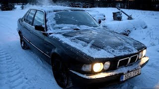 Starting 1993 BMW E32 735i After Buying