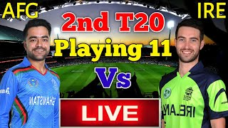 Afghanistan vs Ireland 2nd T20 Match Live Streaming | Live Telecast Channels |