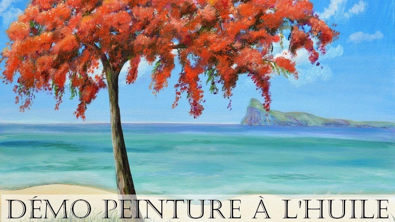 Peinture à l'huile] Paysage : Arbre et Mer