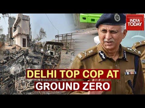 Delhi Special CP, SN Srivastava Visits Violence Hit Areas Of North East Delhi