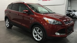 2015 Ford Escape SOLD Titanium NAV Technology AWD Towing Sunset Orange Munro Motors