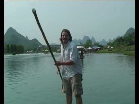 Poling the Planet - James Bayliss-Smith punting on the Yulong River in Southern China