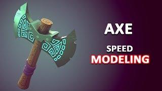Autodesk Maya 2018 - Stylized Axe Speed Modeling