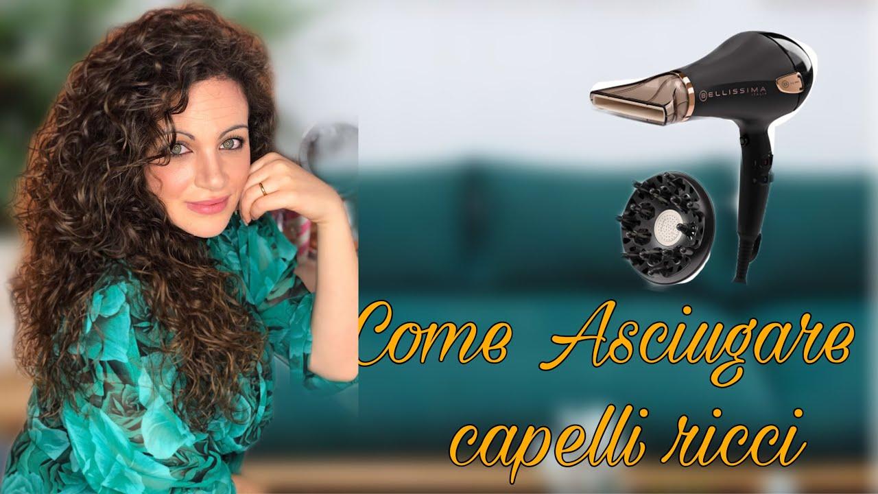 COME ASCIUGARE I CAPELLI RICCI|capelli ricci - YouTube