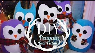 Diy Super Cute Penguin & Owl Pillows | Easy Gift Ideas | Ann Le
