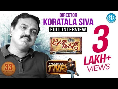 Director Koratala Siva Exclusive Interview | Frankly With TNR #33 | # 208