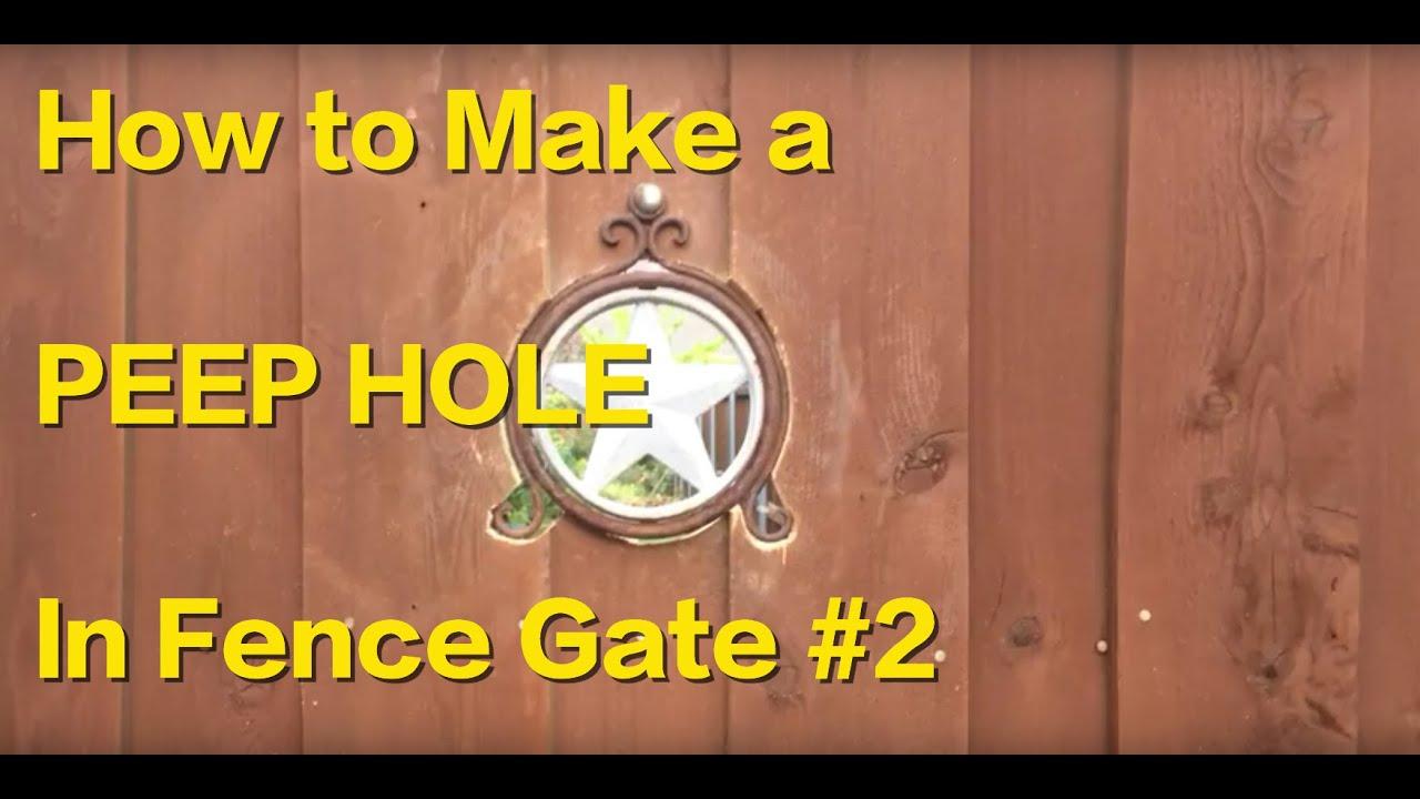 how to make a peephole
