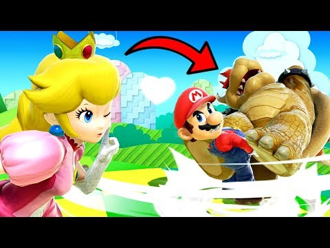 Marios Saves Peach From Bowser! - Super Smash Bros Ultimate Movie