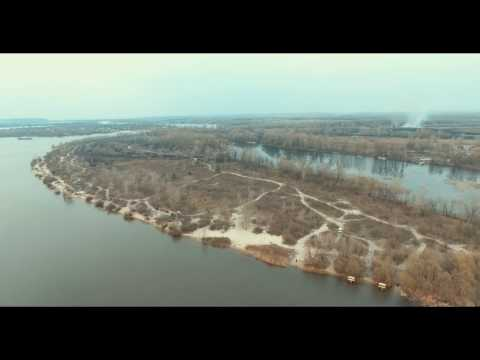Ukraine Kiev 4K Aerial footage 29.03.17 DJI Phantom 4 Dnipro river, Obolon district and islands