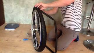 Как надеть велосипедную покрышку шину(Ребята, моя дочь решила снять видео как я бортую колесо, рассказываю как надеть резину на велосипедный обод..., 2013-05-25T17:44:18.000Z)