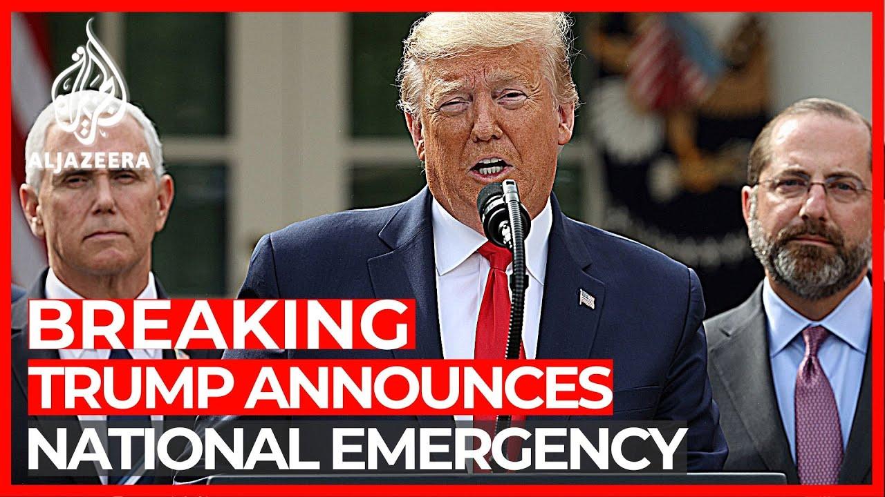 Trump declares national emergency as ...
