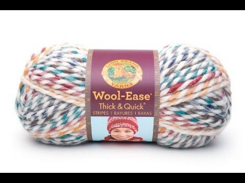 Lions Brand Wool Ease Thick and Quick Stripes Yarn Review - YouTube b6474ca1719
