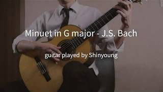 Minuet in G major - J.S. Bach (Classical guitar)
