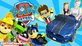PAW PATROL Nickelodeon Mission Paw Rescue from Park In Real Life with Paw Patrol Mission Paw Toys
