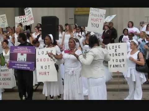 Brides March Against Domestic Violence