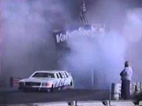 "Jim ""JET"" Neilson Dragster Limo  destroys track tower"