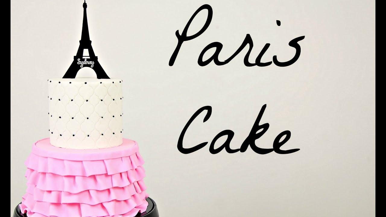 Make A Paris Ruffle Cake Cake Style Youtube