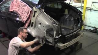 Кузовной ремонт.Замена заднего крыла на Шевроле Круз. Body repair.