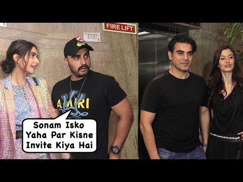 Arjun Kapoor's Angry Reaction As GF MALAIKAs ExHusband Arbaaz Came For Sonam Kapoor's Film Screening