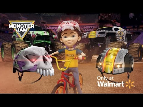New Bright Monster Jam - Grave Digger & Max-D Bicycle Helmets